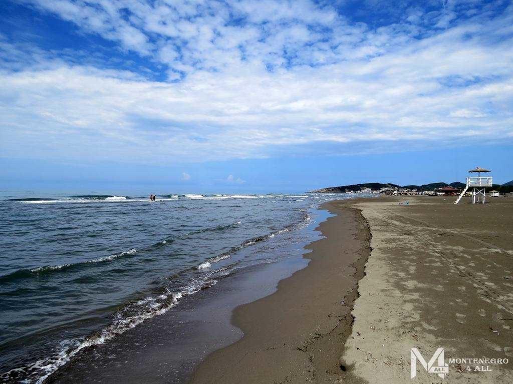 Пляжная линия к Улцинь