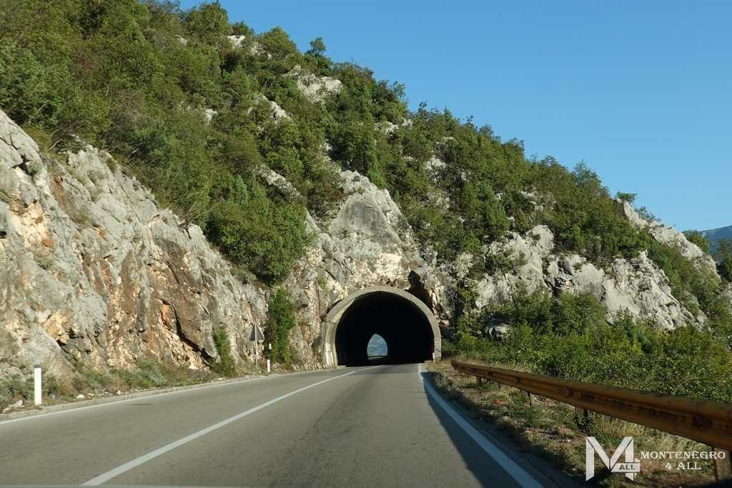 Дорога из Подгорицы в Цетине