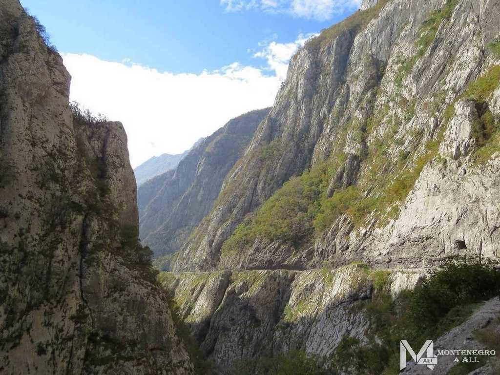 Дорога вдоль каньона Морача