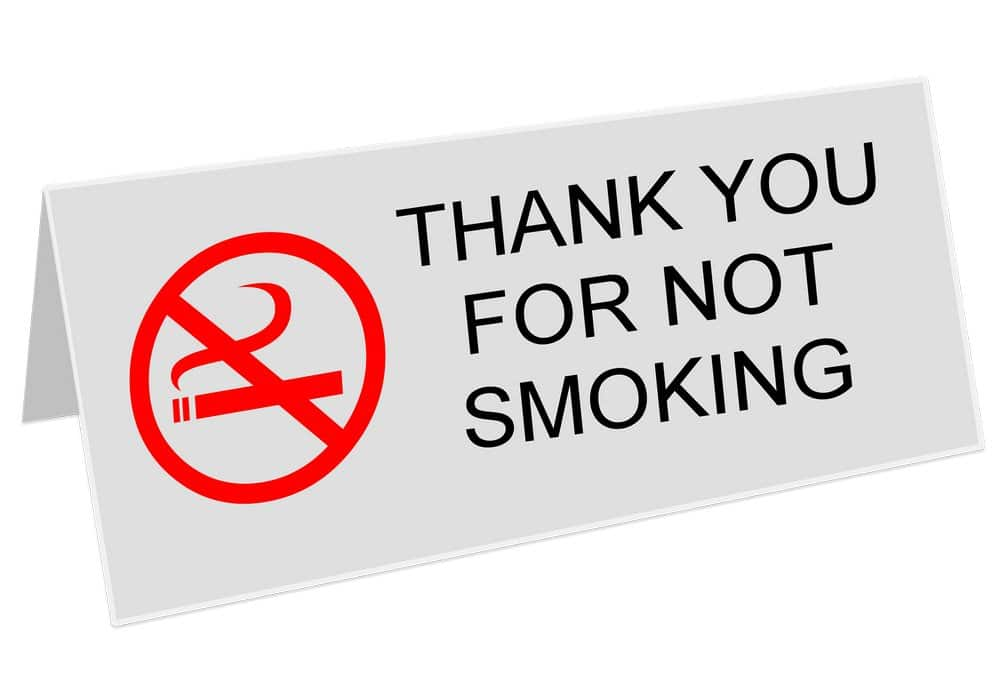 Запрет на курение в помещениях