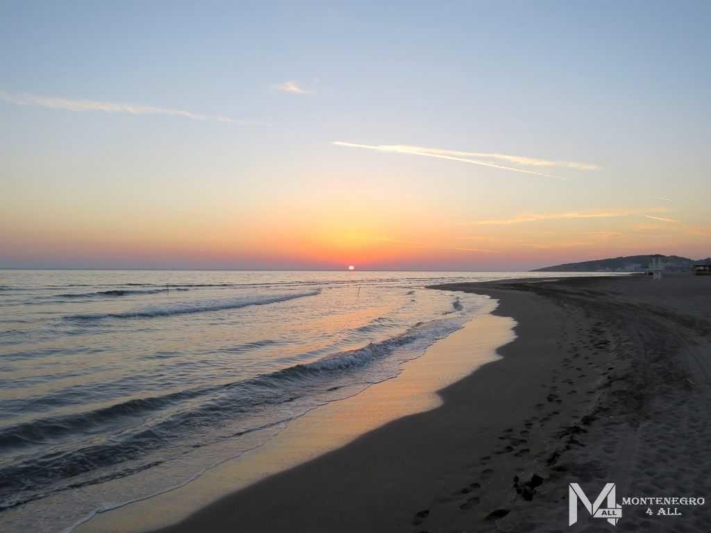 Заход солнца над Адриатическим морем