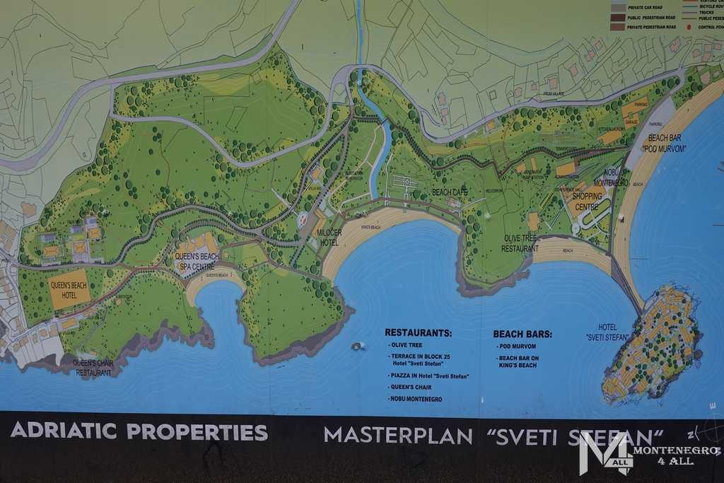 Карта курорта Милочер