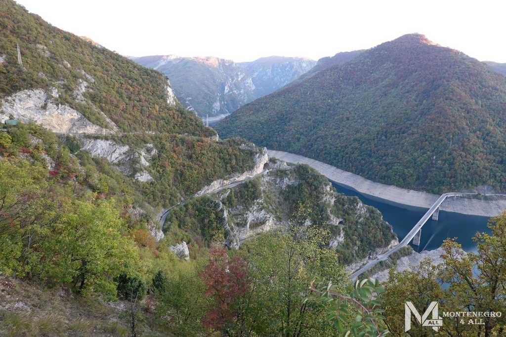 Орлиная дорога к Пивскому водохранилищу