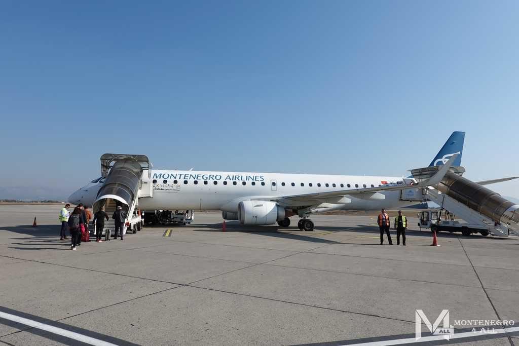 Воздушный транспорт Черногории