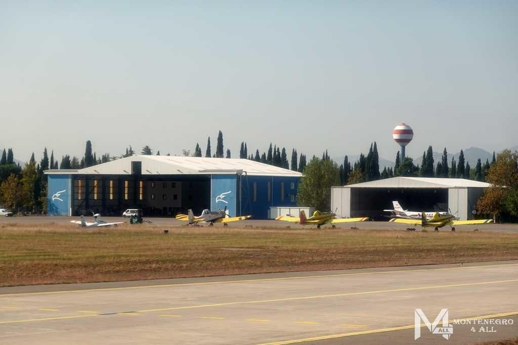 Частные самолеты в аэропорту Подгорицы